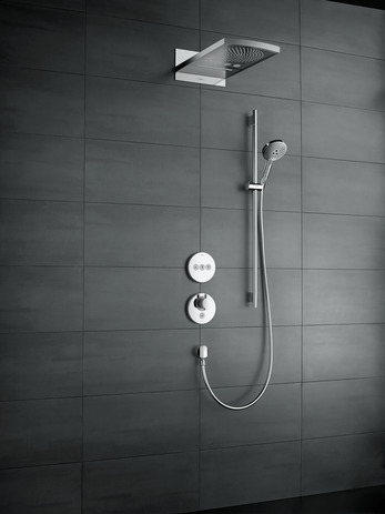 Hansgrohe Термостат для душа ShowerSelect S Highflow с клапаном для ручного душа, СМ арт.15742000. Изображение №1