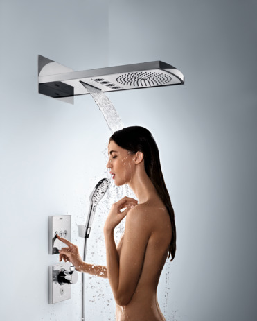 Hansgrohe Термостат для душа ShowerSelect Highflow с клапаном для ручного душа арт.15761000. Изображение №4