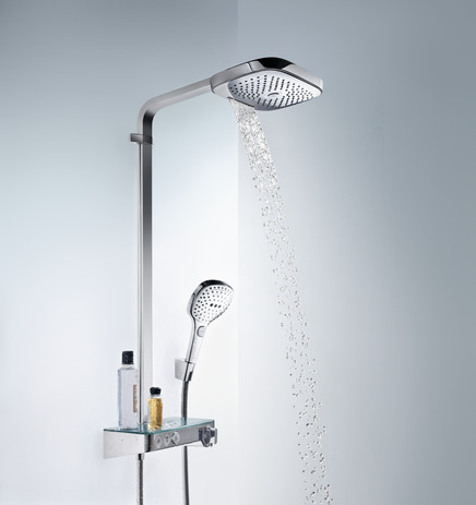 Hansgrohe Душевая система Raindance Select E 300 3jet Showerpipe арт.27127400. Изображение №2
