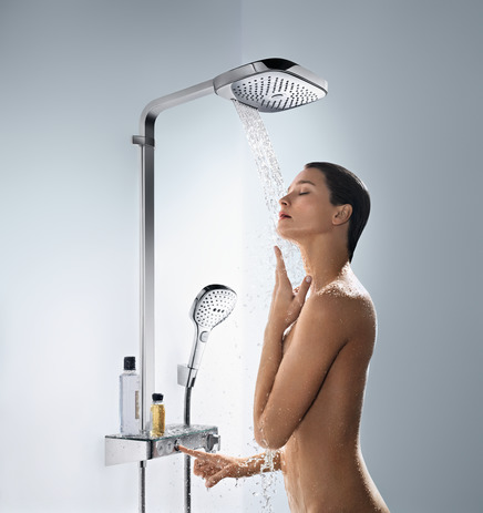 Hansgrohe Душевая система Raindance Select E 300 3jet Showerpipe арт.27127400. Изображение №6