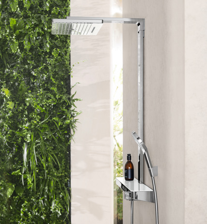 Hansgrohe Душевая система Rainмaker Select 420 2jet Showerpipe арт.27168400. Изображение №1
