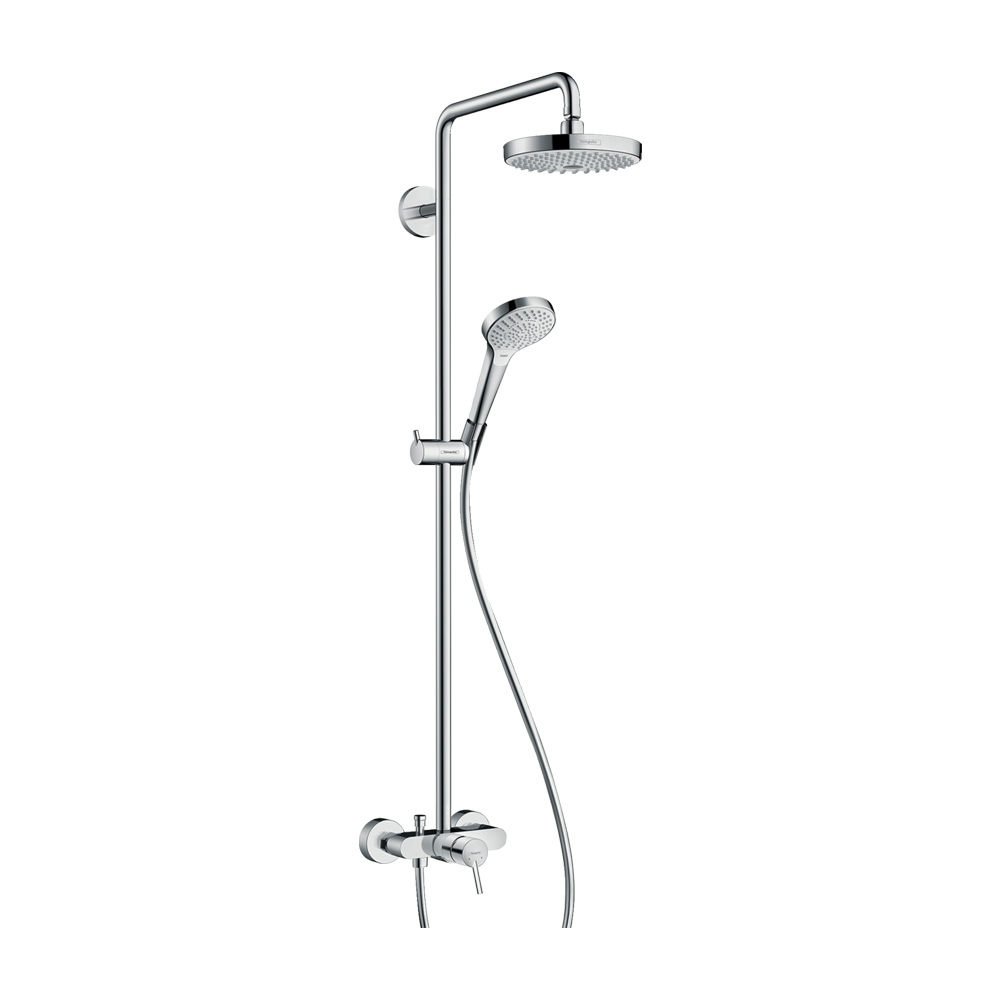 Hansgrohe Душевая система Croмa Select S 180 2jet Showerpipe арт.27255400